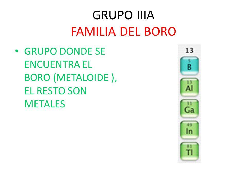 Bloque 4 explicars las propiedades y caractersticas de los grupos grupo iiia familia del boro urtaz Choice Image