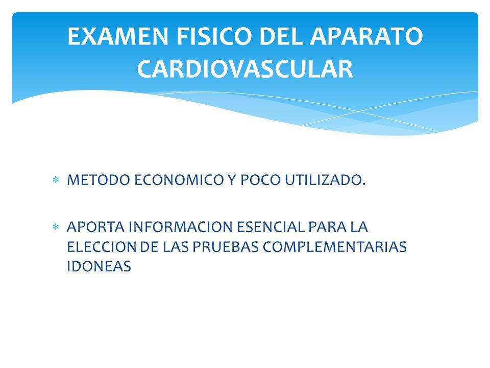 EXAMEN FISICO DEL APARATO CARDIOVASCULAR - ppt descargar