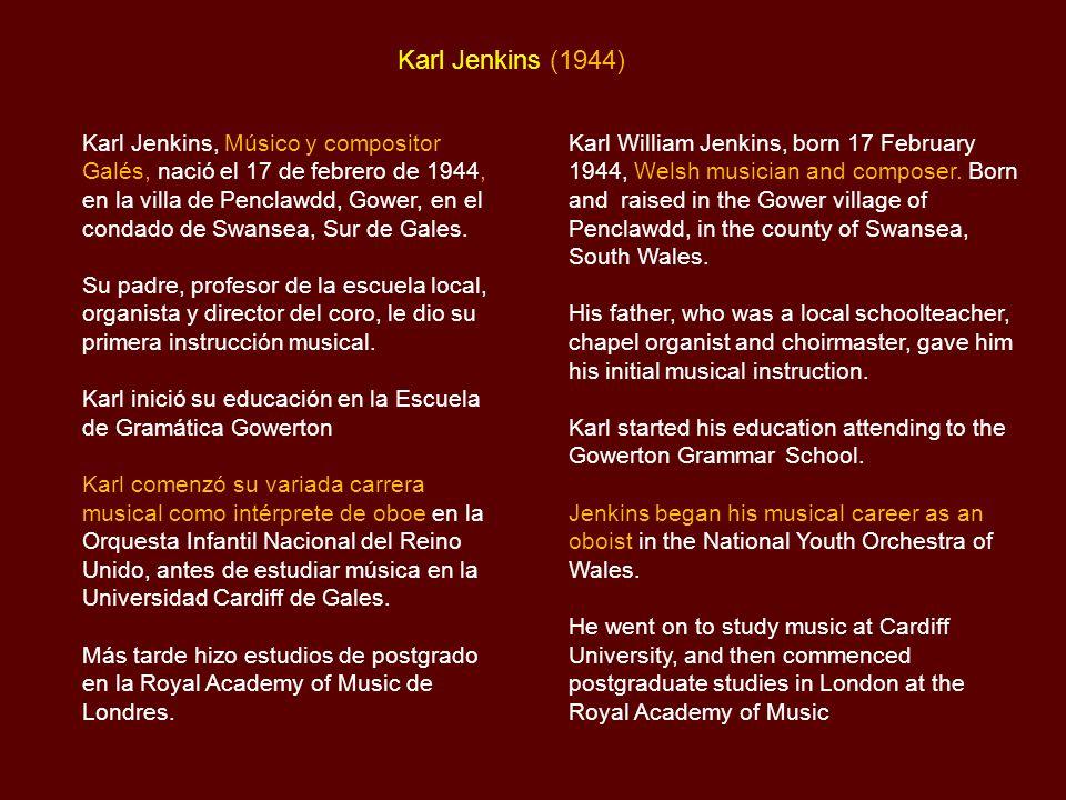 Karl Jenkins Biografía / Biography Palladio  - ppt descargar