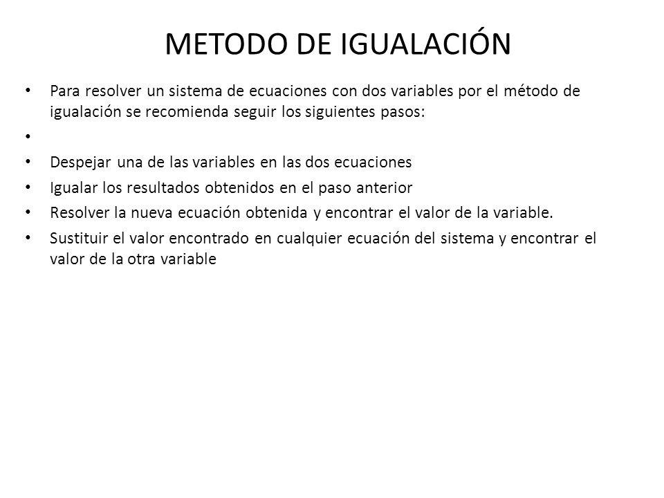 Metodo De Adición Para Resolver Un Sistema De Ecuaciones Lineales Por El Método De Adición Se Puede Considerar El Siguiente Proceso Obtener Coeficientes Ppt Descargar