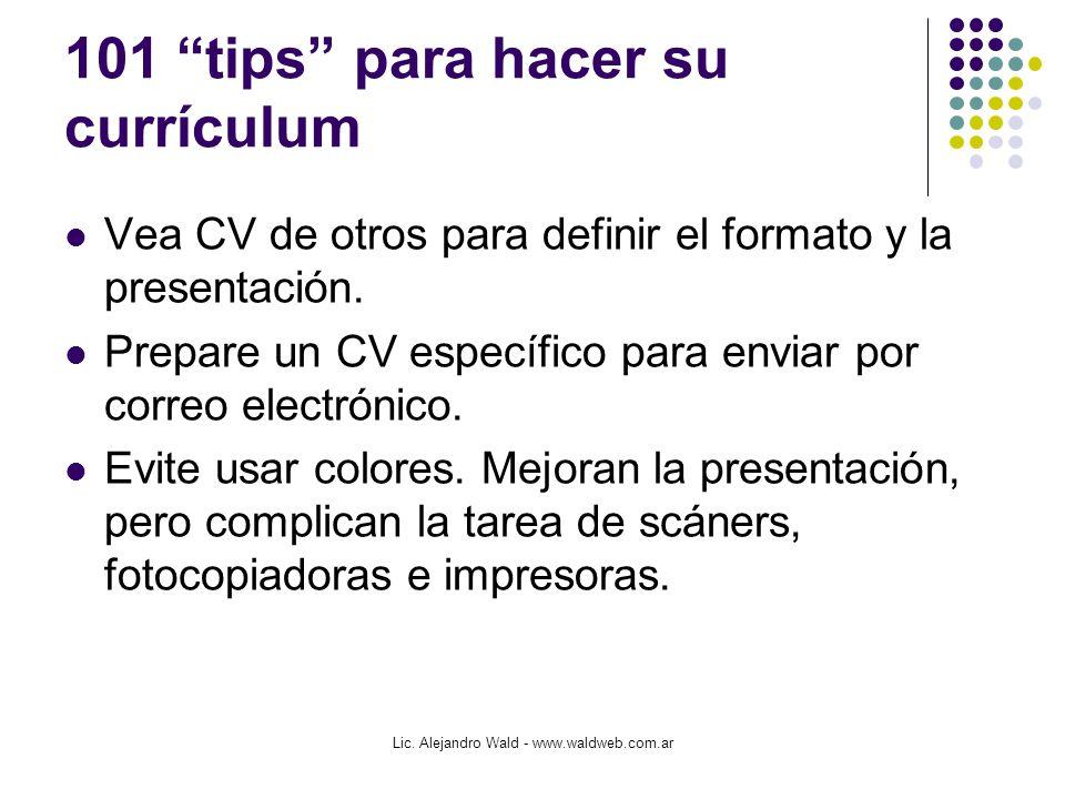 """101 """"tips"""" para hacer su currículum - ppt descargar"""