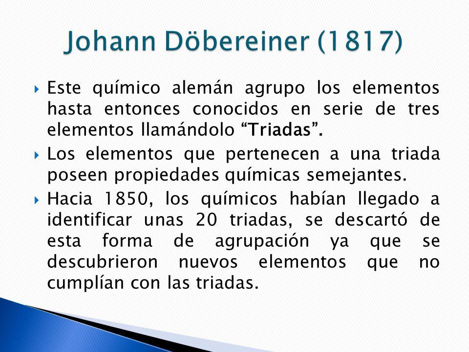 Historia de la tabla peridica ppt video online descargar 7 johann dbereiner urtaz Images