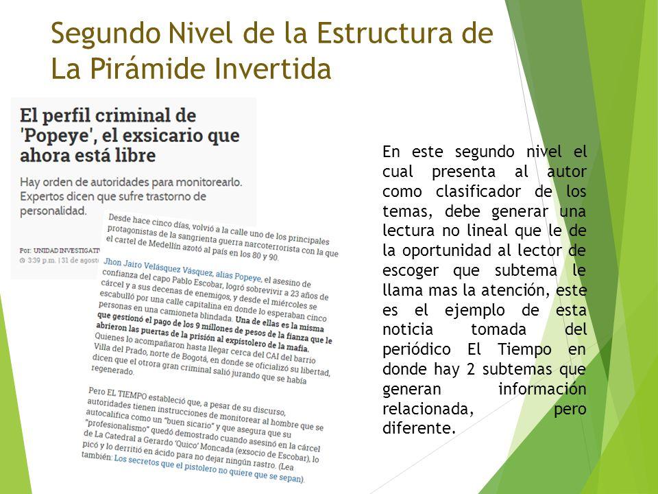 Nivel Básico De La Estructura De La Pirámide Invertida Ppt