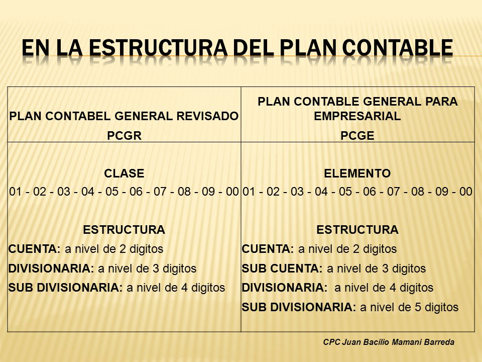 PLAN CONTABLE GENERAL REVISADO PDF