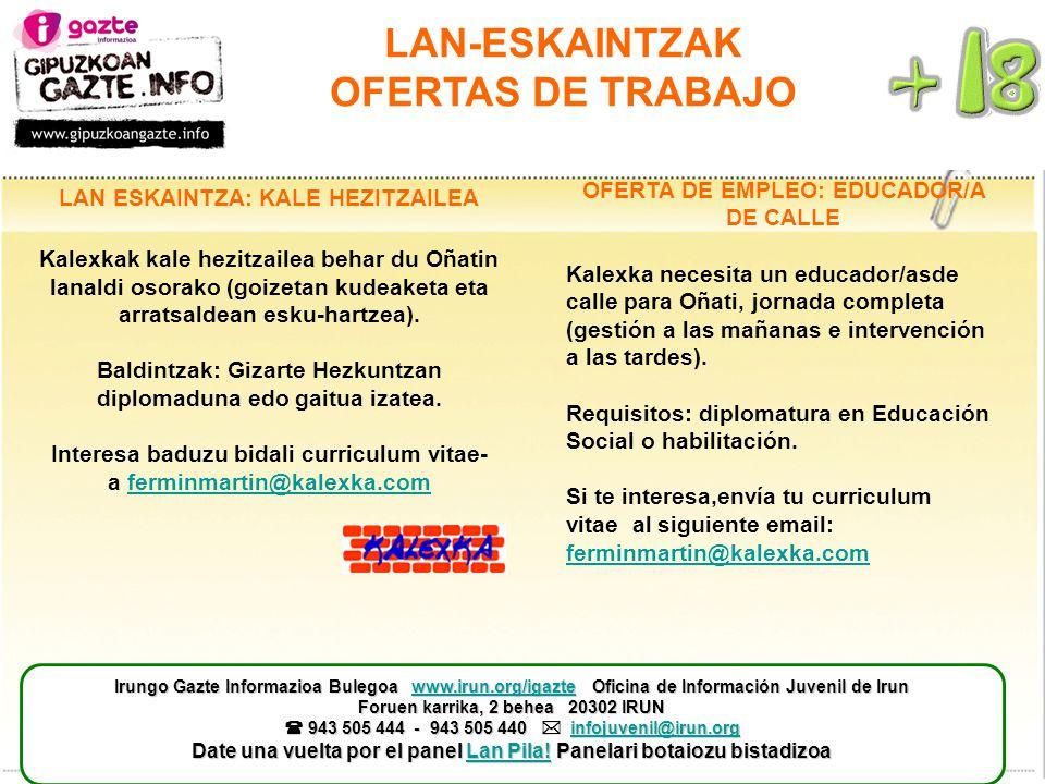 Lan Eskaintzak Ofertas De Trabajo Ppt Descargar