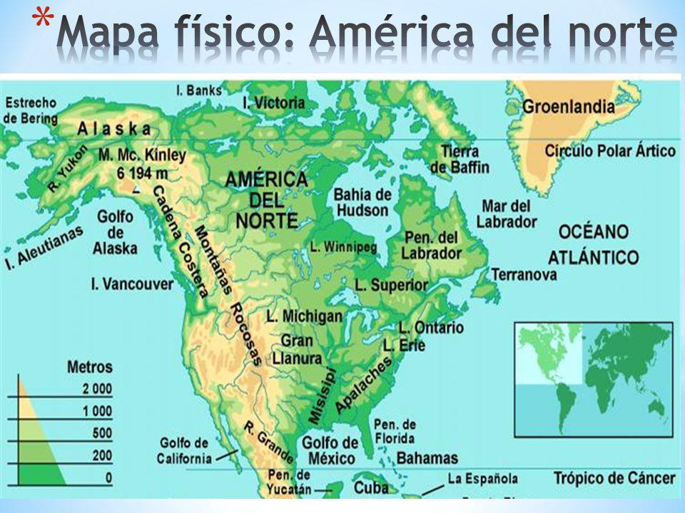 Rio Bravo Mapa Fisico.Golfo De San Lorenzo Mapa Fisico