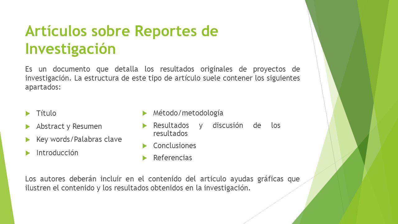Guía para presentar Artículos de Investigación - ppt video online ...