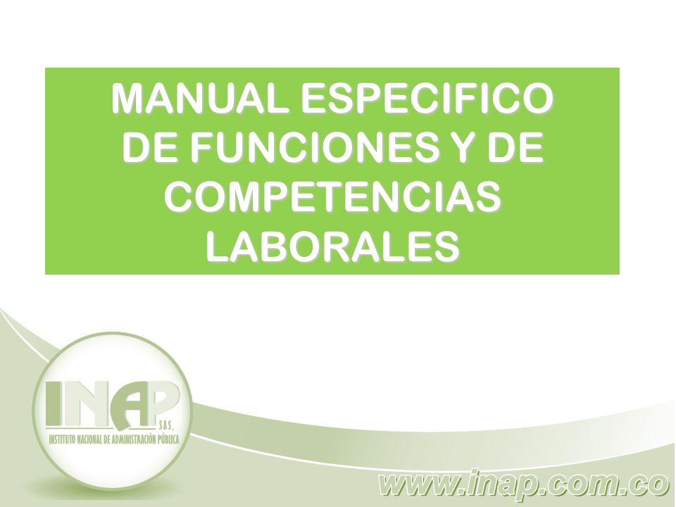 MANUAL ESPECIFICO DE FUNCIONES Y DE COMPETENCIAS LABORALES - ppt video  online descargar
