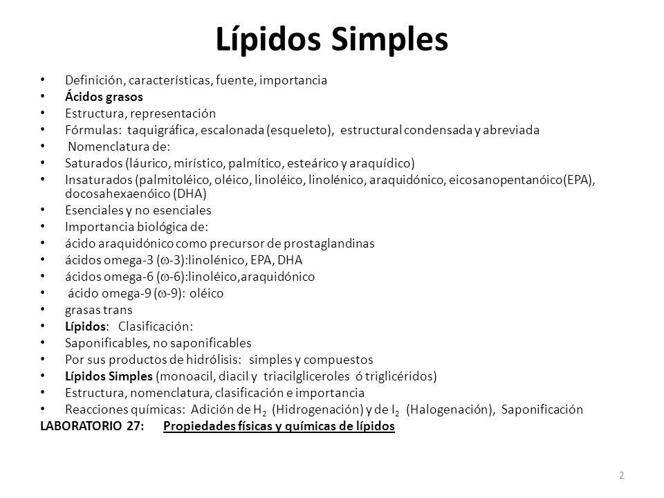 Semana 27 Lípidos Simples Ppt Video Online Descargar