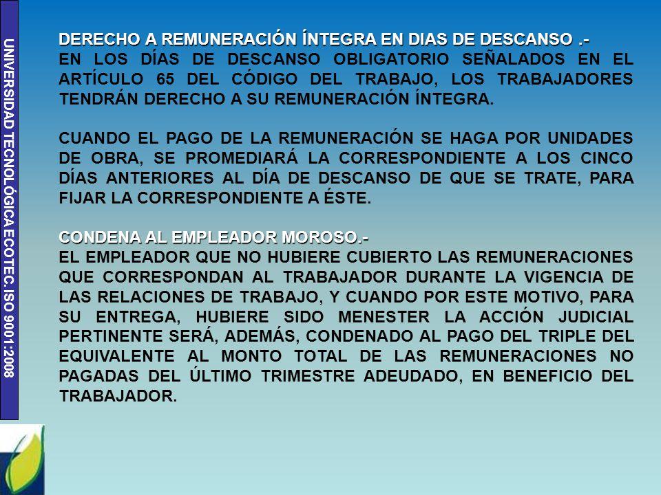 """SUMARIO No  8 """"REMUNERACIONES"""" IGUALDAD DE REMUNERACIÓN"""