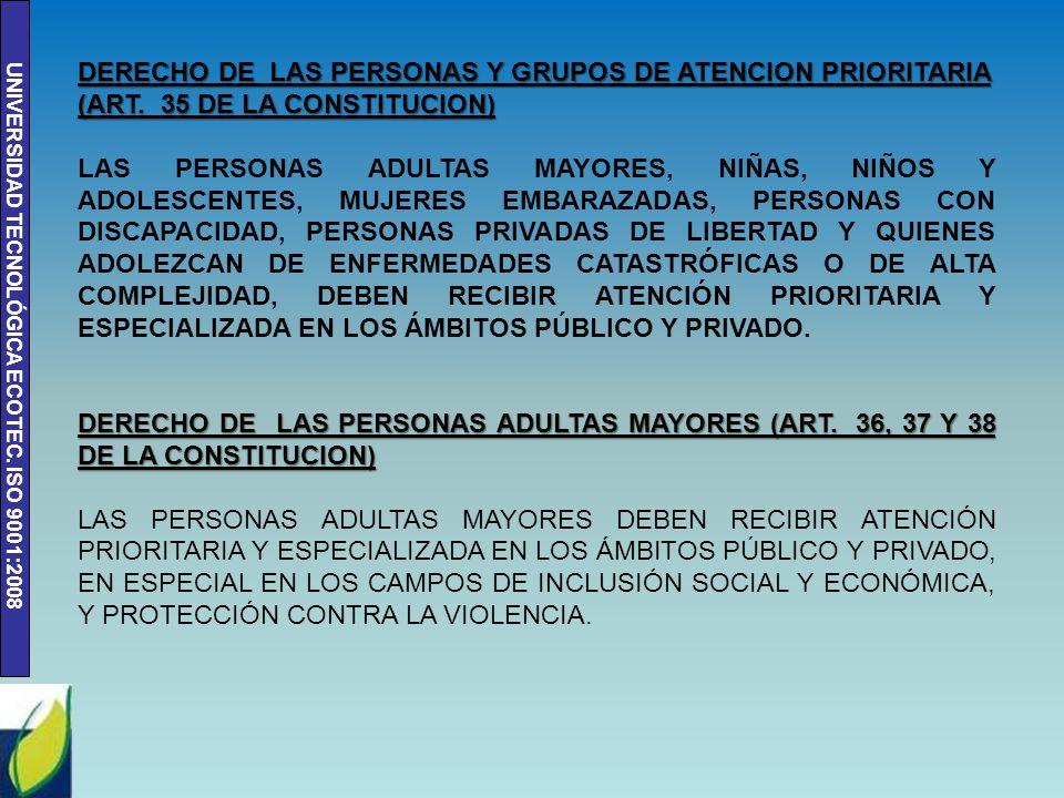 a3d5daeef DERECHO DE LAS PERSONAS Y GRUPOS DE ATENCION PRIORITARIA (ART - ppt ...