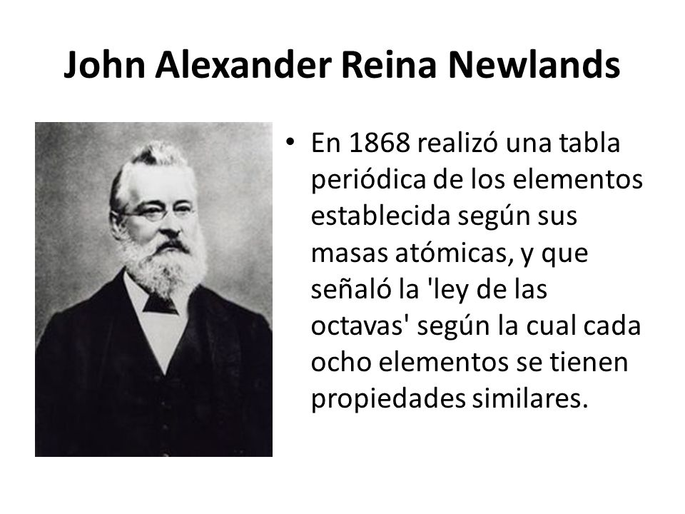 La tabla peridica de los elementos ppt descargar john alexander reina newlands urtaz Image collections