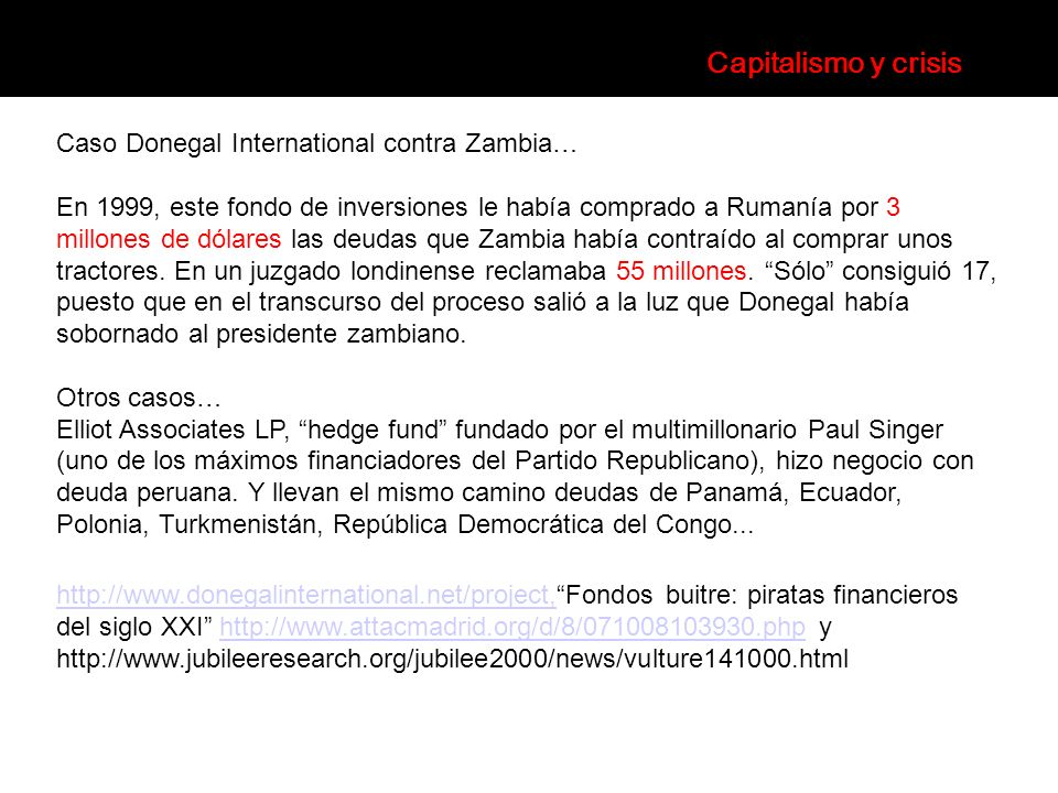 Capitalismo y crisis Caso Donegal International contra Zambia…