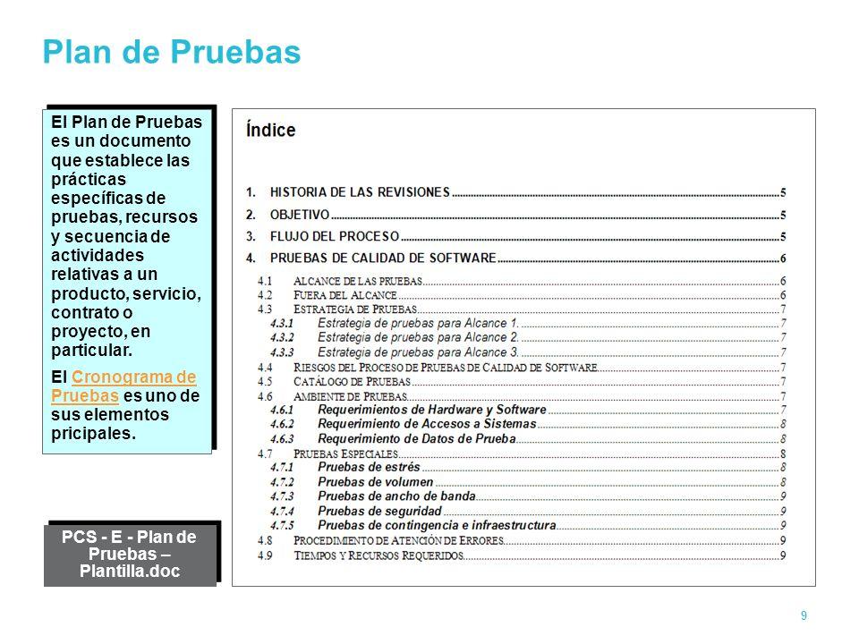 Magnífico Plantilla De Plan De Calidad De Software Adorno ...
