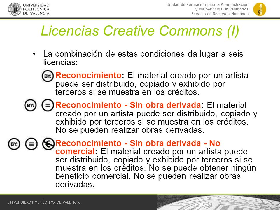 Licencias Creative Commons (I)