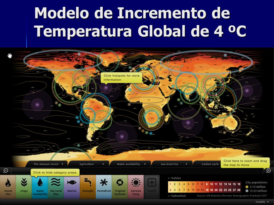 Modelo de Incremento de Temperatura Global de 4 ºC