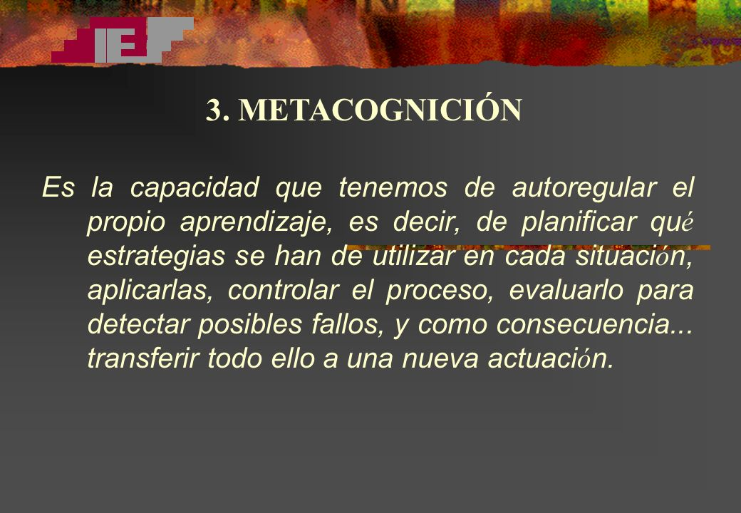 3. METACOGNICIÓN