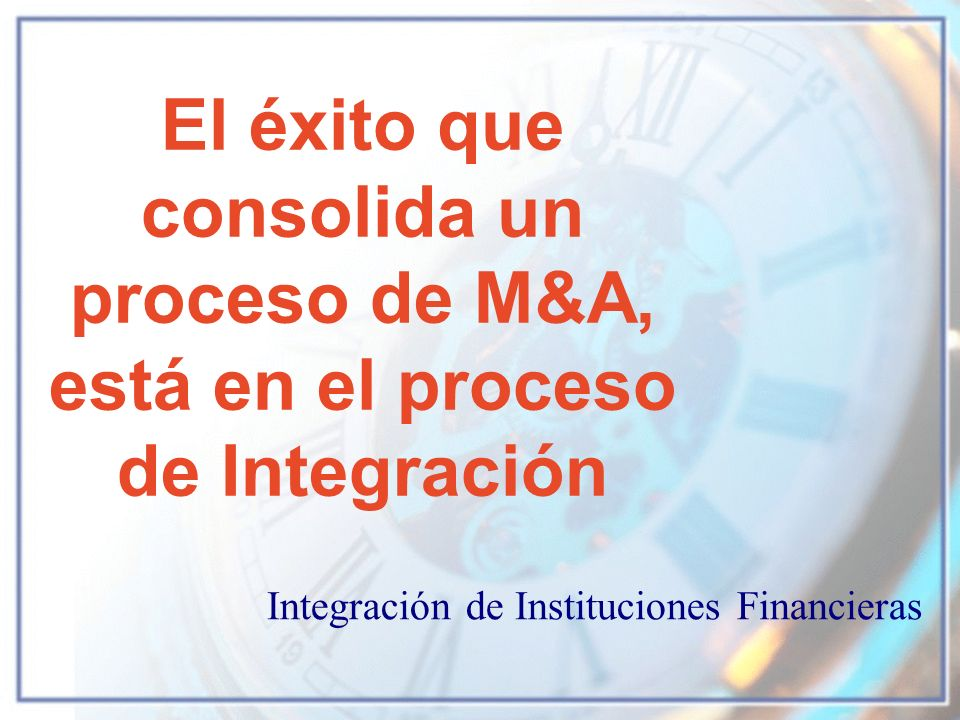 Integración de Instituciones Financieras