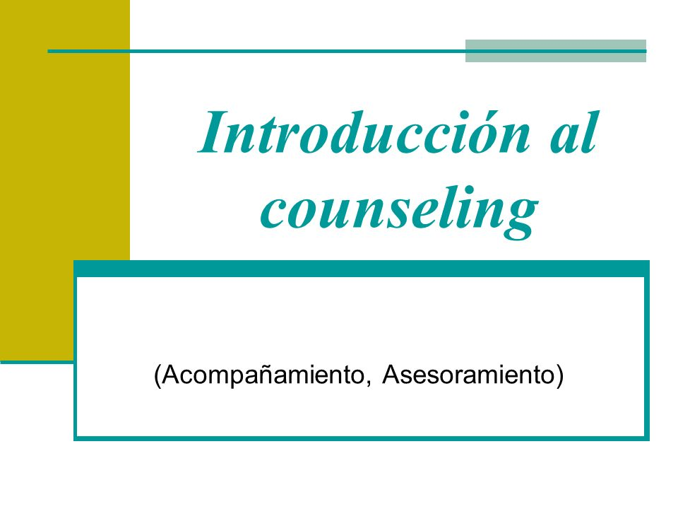 Introducción al counseling