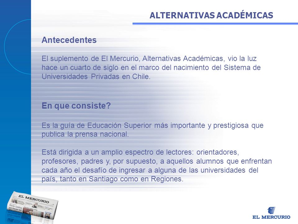 ALTERNATIVAS ACADÉMICAS