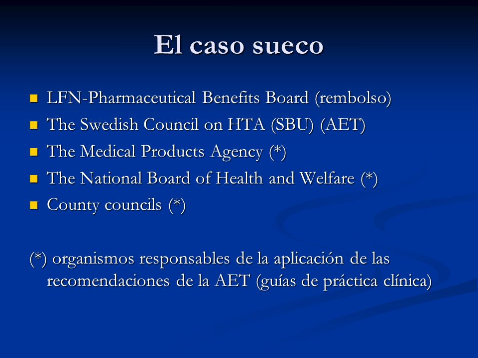 El caso sueco LFN-Pharmaceutical Benefits Board (rembolso)