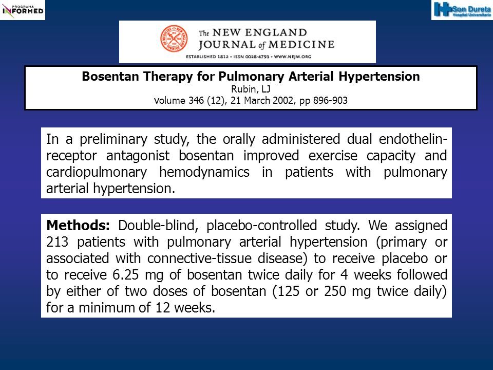 Bosentan Therapy for Pulmonary Arterial Hypertension