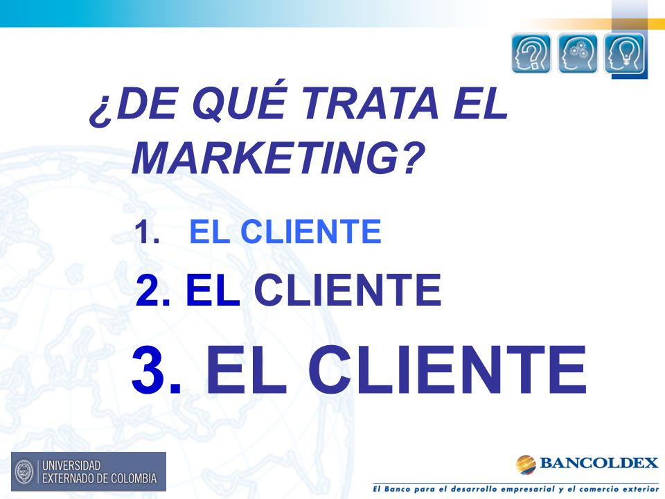 ¿DE QUÉ TRATA EL MARKETING