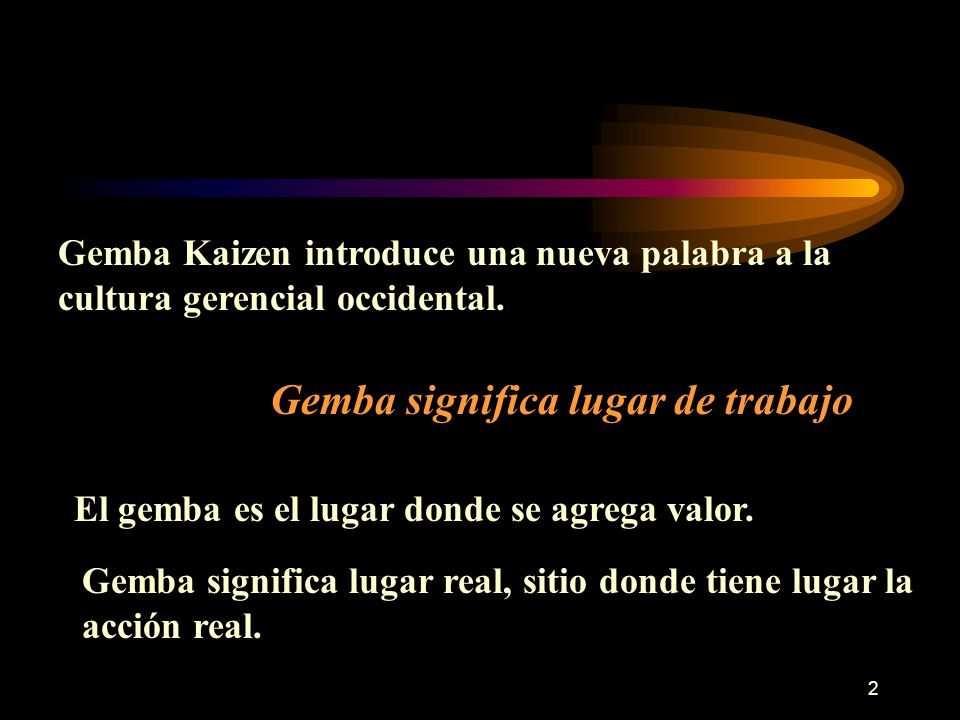 Gemba Kaizen introduce una nueva palabra a la cultura gerencial occidental.