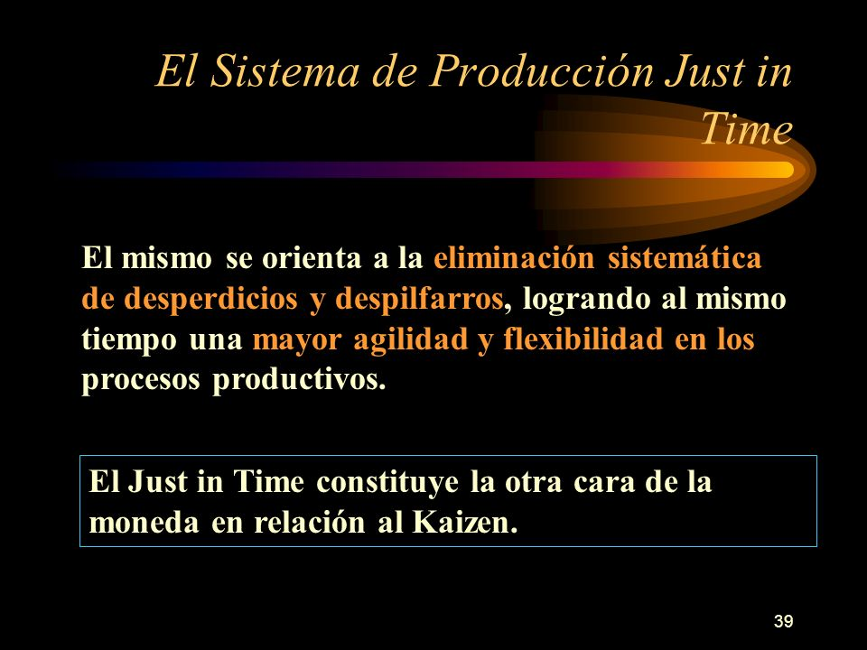 El Sistema de Producción Just in Time