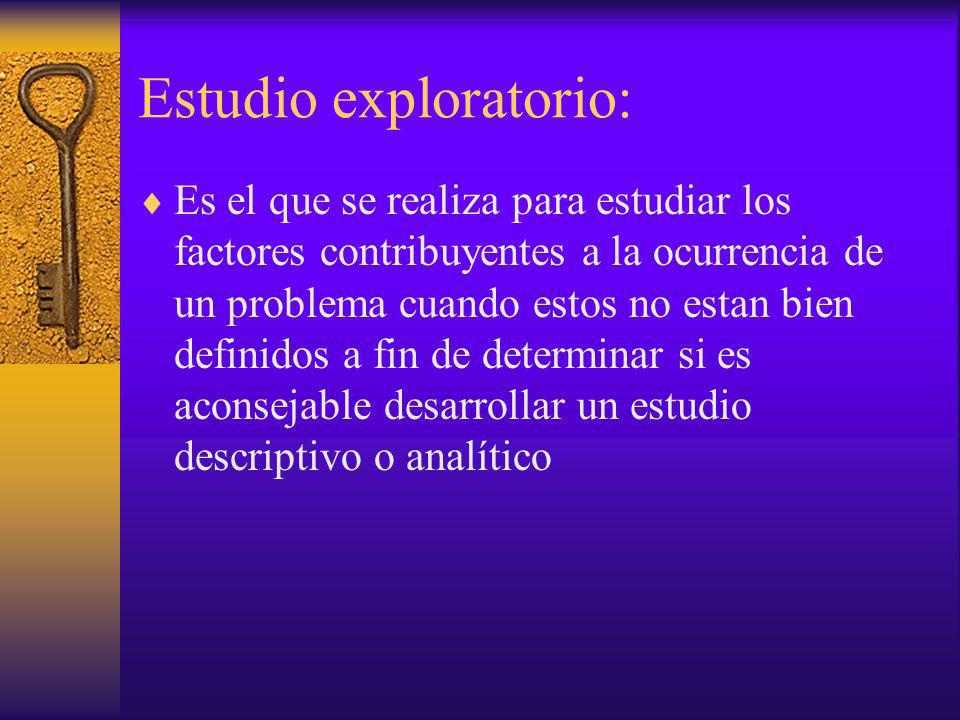 Estudio exploratorio: