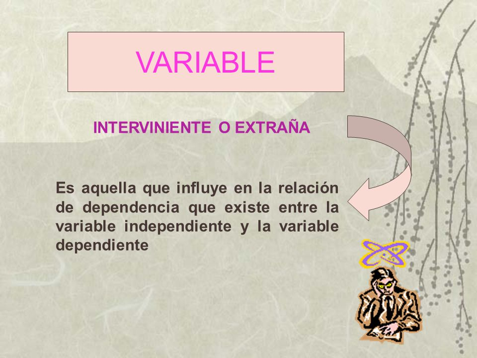 VARIABLE INTERVINIENTE O EXTRAÑA