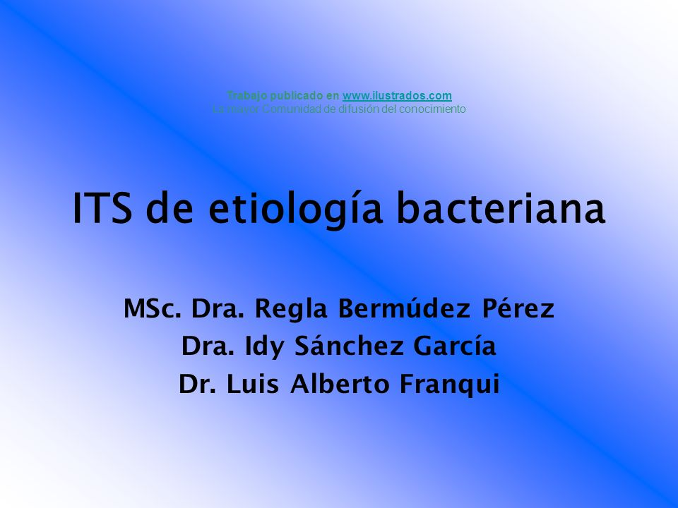 ITS de etiología bacteriana
