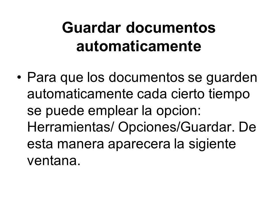 Guardar documentos automaticamente
