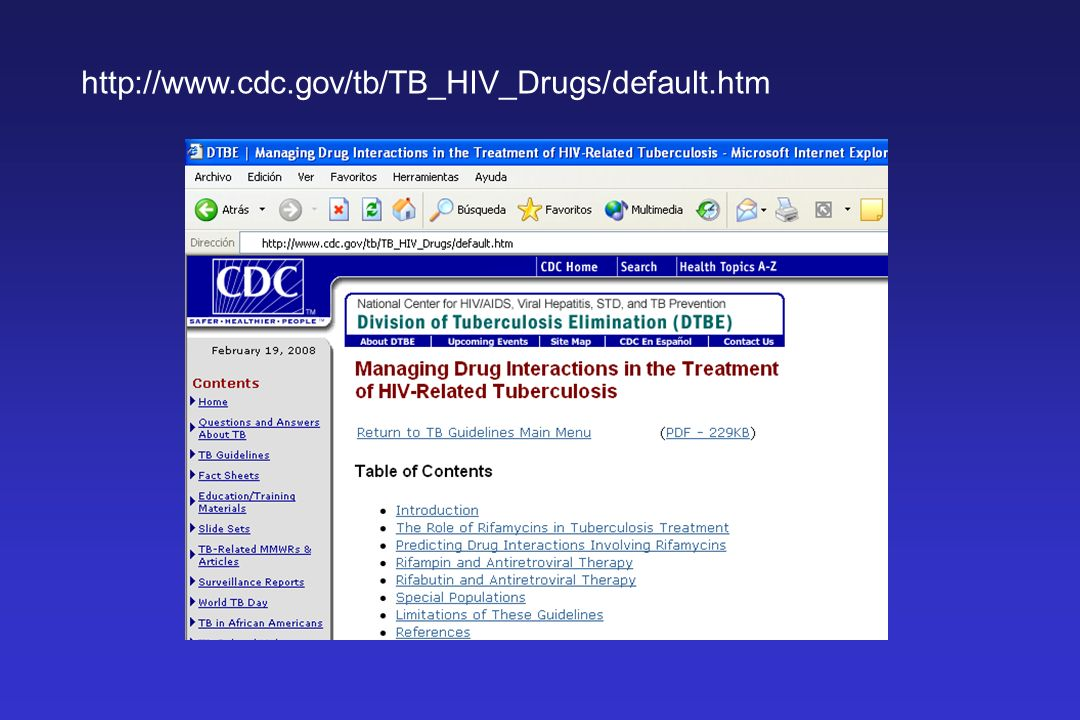 http://www.cdc.gov/tb/TB_HIV_Drugs/default.htm