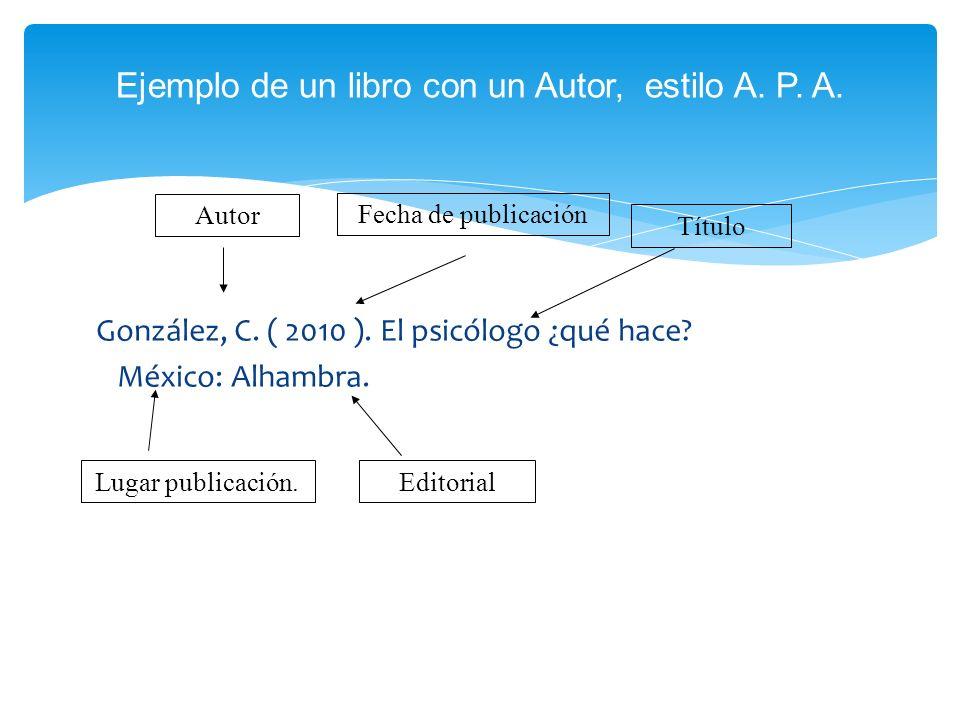 2 Unidad Estilo Apa Para Citas Y Referencias Bibliográficas