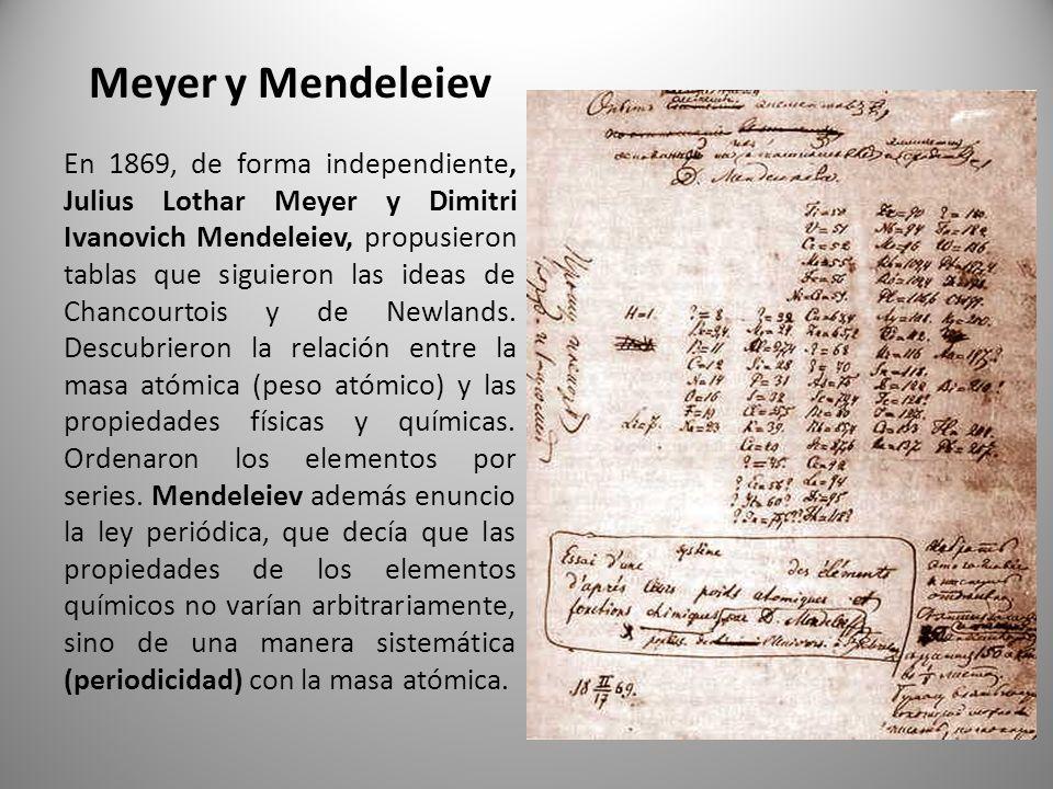 Tabla periodica cmo se construy ppt descargar meyer y mendeleiev urtaz Image collections