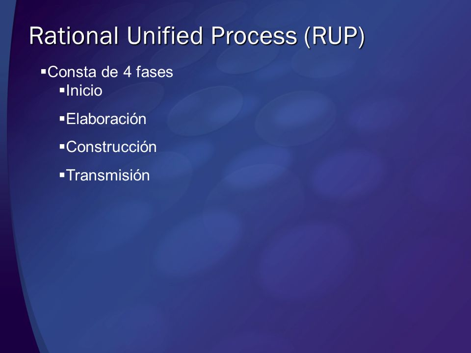Rational Unified Process (RUP)