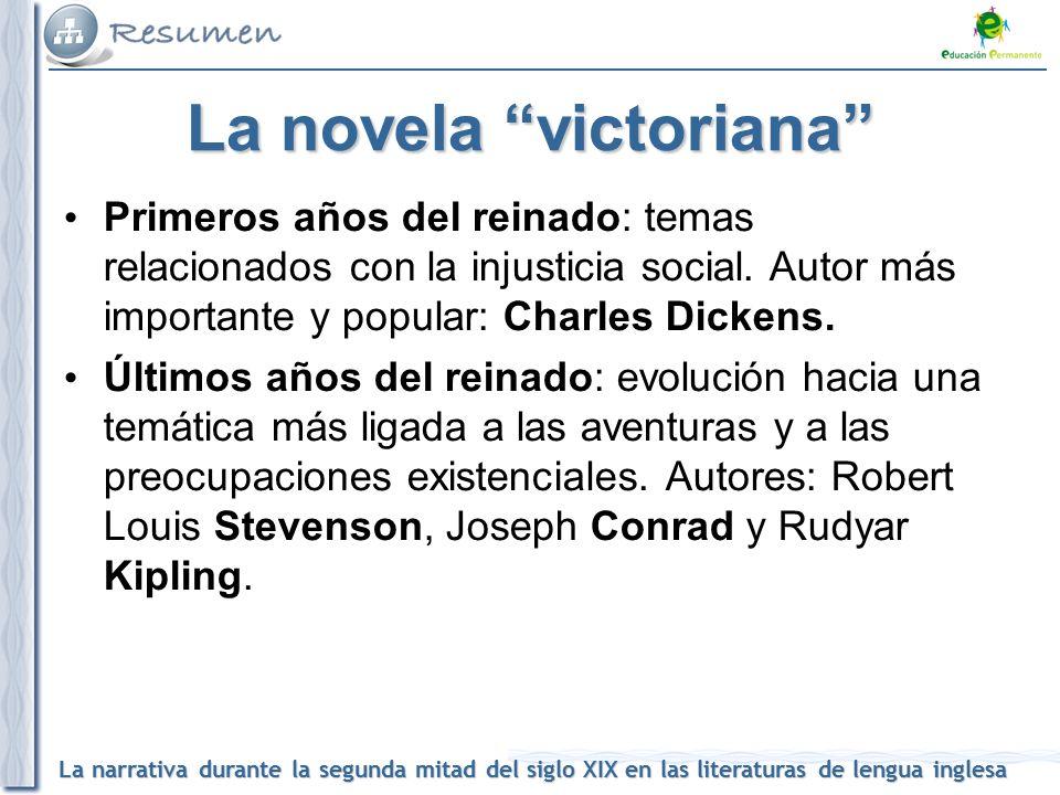 2df0671883 La literatura en la segunda mitad del Siglo XIX  La narrativa ...