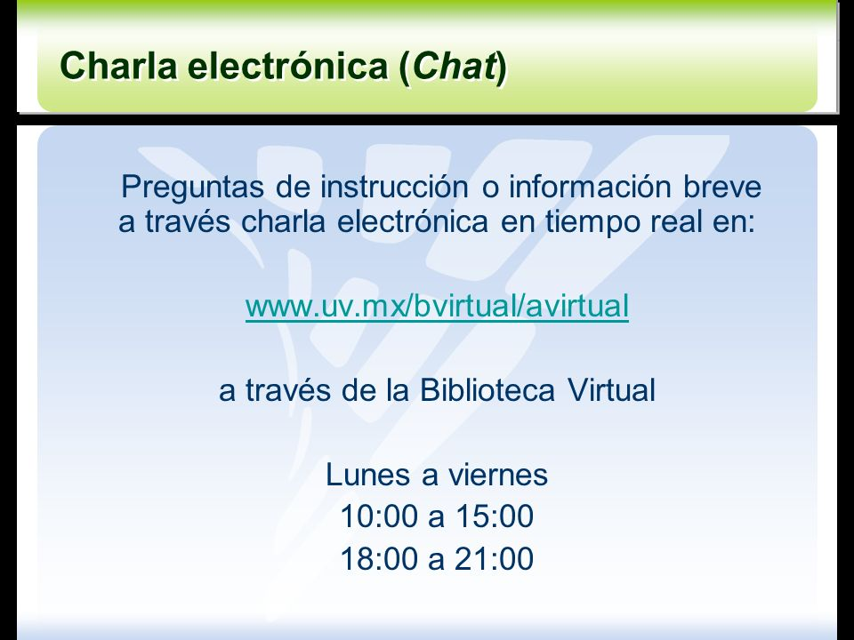 Charla electrónica (Chat)