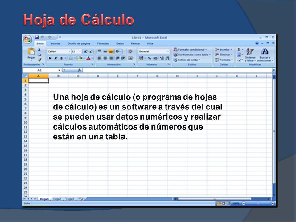 Evolución de Hoja de Cálculo - ppt descargar