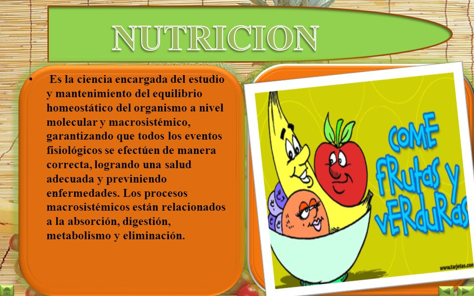 importancia de la nutrición en la salud
