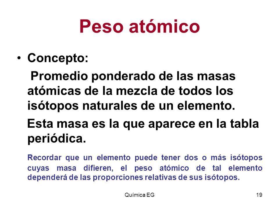 Estructura atomica qumica eg ppt descargar peso atmico concepto urtaz Image collections