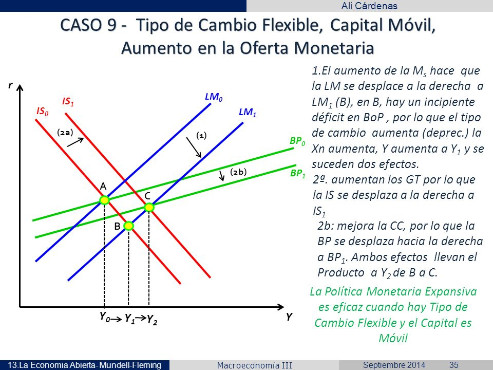 Caso 9 Tipo De Cambio Flexible Capital Móvil