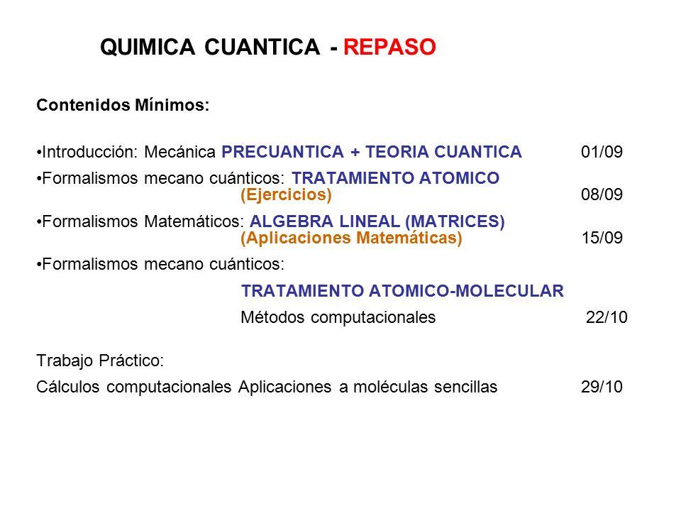 Quimica Cuantica Repaso Ppt Descargar