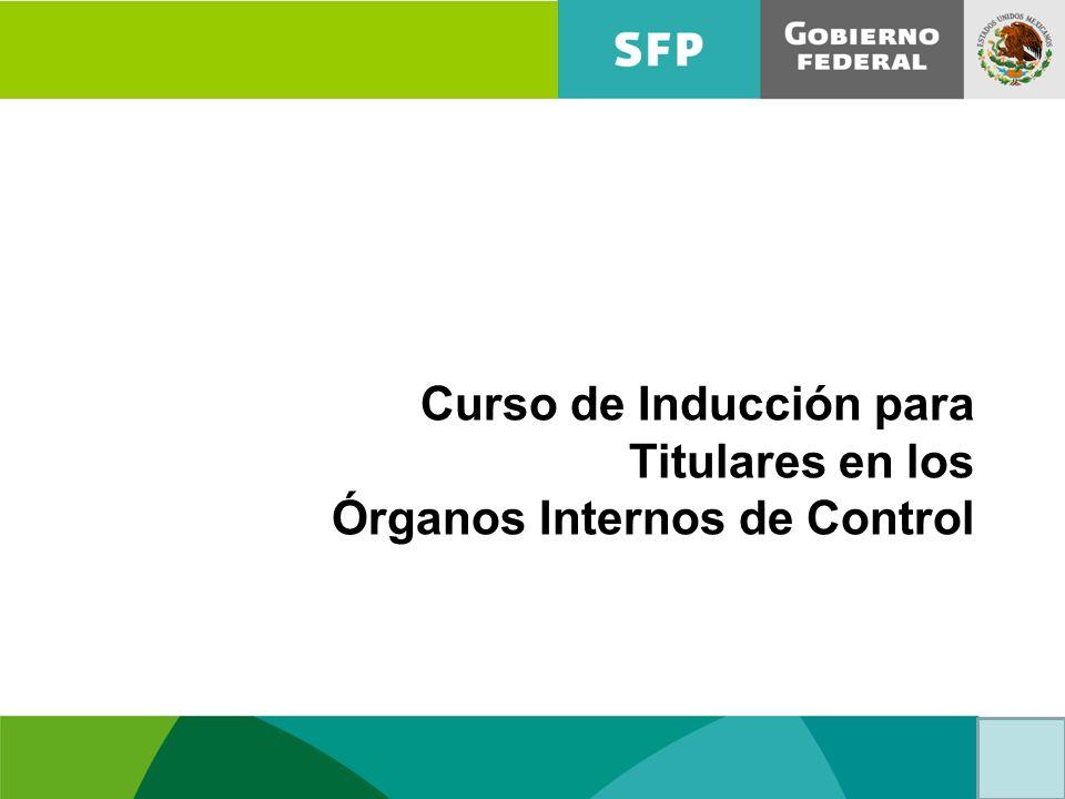 Curso de Inducción para Titulares en los Órganos Internos de Control ...