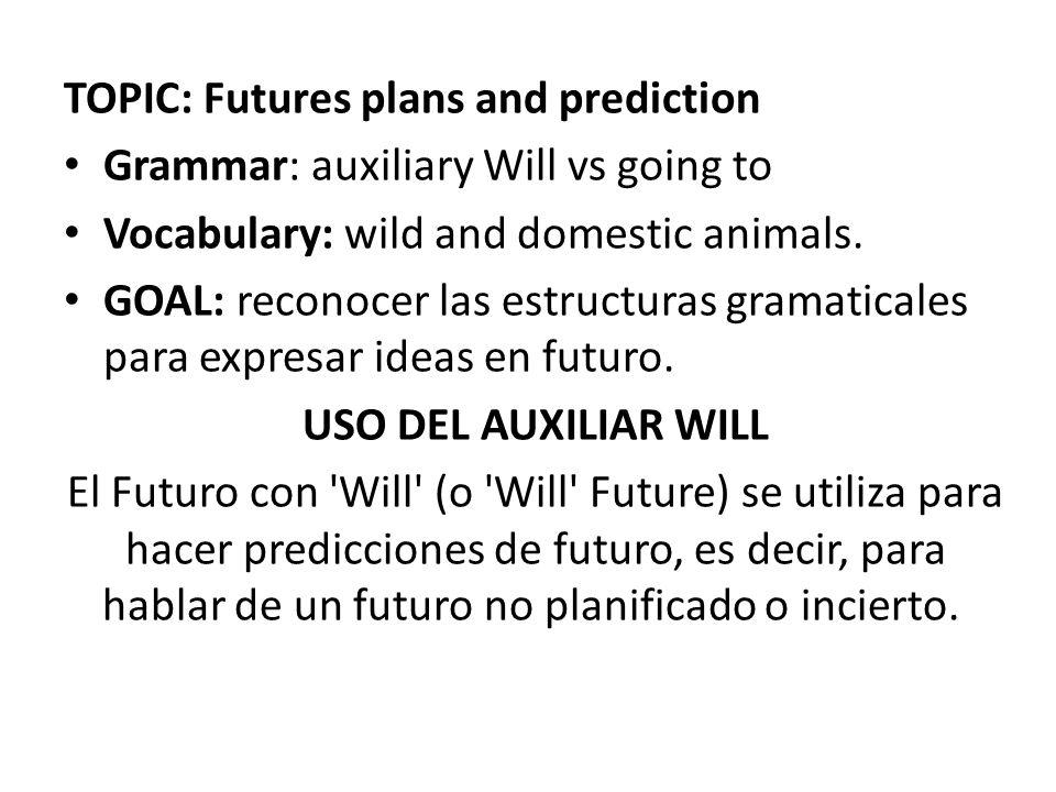 Topic Futures Plans And Prediction Ppt Descargar