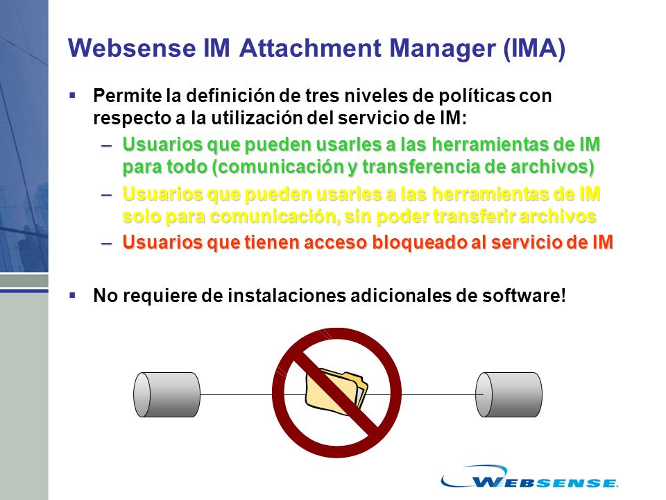 Websense IM Attachment Manager (IMA)