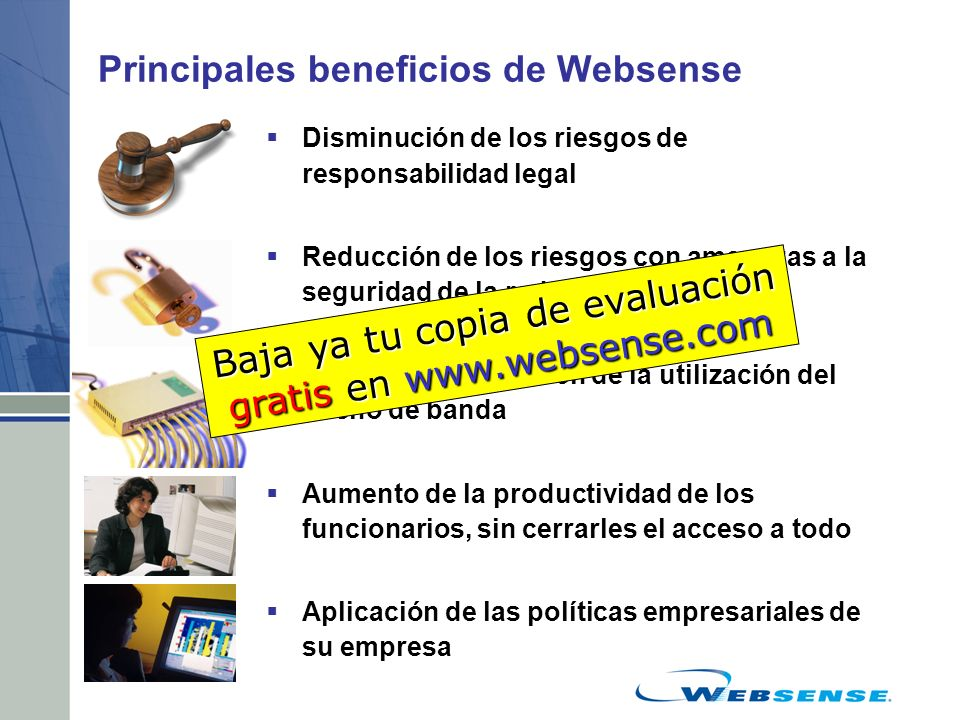 Principales beneficios de Websense