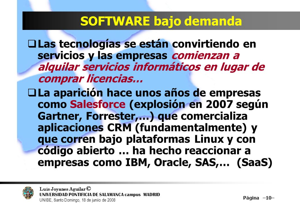 SOFTWARE bajo demanda