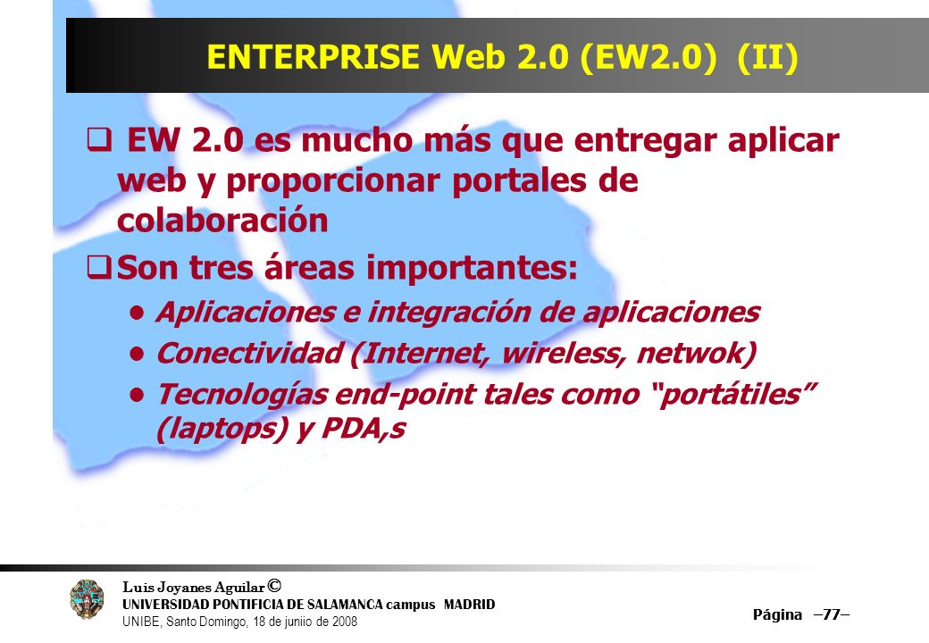 ENTERPRISE Web 2.0 (EW2.0) (II)
